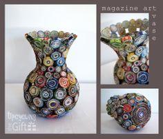 Magazine art vase
