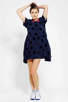 Lazy Oaf Folka Dot Sally Dress #urbanoutfitters