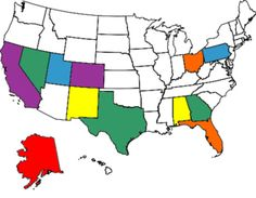 My Visited States Map for Flat Stanley project!