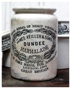 Recipe 42: To make chip marmalade. Susanna MacIver. Cookery and Pastry. 1783. Scotland.  Dundee Marmalade! Marmalade is Greek for jam. Period. Janet Keiller was the one who made marmalade mean oranges!