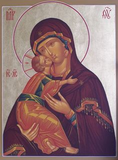 My favorite icon - Theotokos of Vladimir.