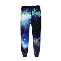 255c46f79c4a06 3D Full Print Rick and Morty jogger pants! Get Schwifty. Best Rick and morty