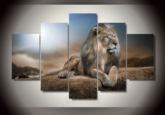 Style Your Home Today With This Amazing 5 Pieces Multi Panel Modern Home Decor Framed Lion Pride Animal Wall Canvas Art For $99.98  Discover more canvas selection here http://www.octotreasures.com  If you want to create a customized canvas by printing your own pictures or photos, please contact us.