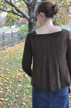 Cecily Glowik MacDonald, Tivoli pattern | available for purchase on Ravelry | Lovely cable detail on back allows for A-line shape