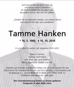 Deceased animal whisperer - Touching funeral notice for Tamme Hanken - Wanderlust Movie Night Snacks, Tamme Hanken, Movie To Watch List, Dad Humor, Grief, To Tell, Funeral, Announcement, Don't Forget