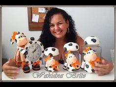 (DIY) PASSO A PASSO POTE VAQUINHA SENTADA MARATONA POTES #7 - YouTube