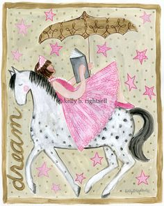 Little Girls Room Horse Painting, horse themed bedrooms - Shia ...