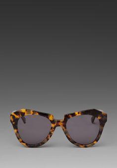 KAREN WALKER Sunnies in Crazy Tort at Revolve Clothing. Want!