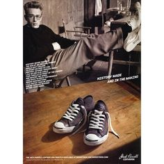 ad346c52106826 Converse Jack Purcell Ad Campaign Spring Summer 2011 Shot  2 - MyFDB ❤  liked on Polyvore featuring ad campaign and james dean