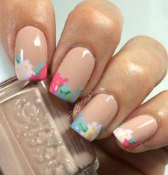 Beautiful flowered nail art