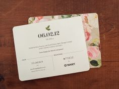 Wedding Shower Invite - don't like the flower pattern but the wording is nice.