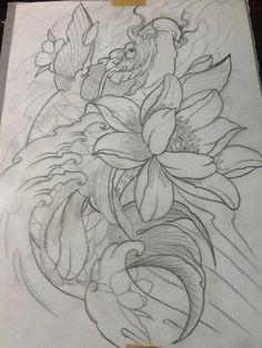 Japanese Koi Fish Tattoo, Japanese Tattoo Designs, Henna Finger Tattoo, Koi Tattoo Design, Koi Fish Designs, Sak Yant Tattoo, Koi Art, Lowrider Art, Asian Tattoos