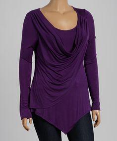 This Purple Drape Top - Plus - Plus is perfect! #zulilyfinds