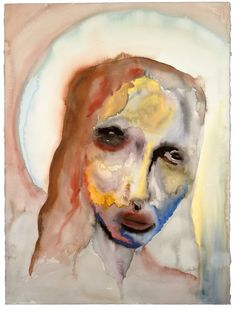 Painting: Statue of Limitations by Marilyn Manson Arte Marilyn Manson, Marilyn Manson Paintings, Watercolor Art Landscape, Watercolor Art Paintings, Watercolour, Demon Art, Surrealism Painting, Weird Art, Animation