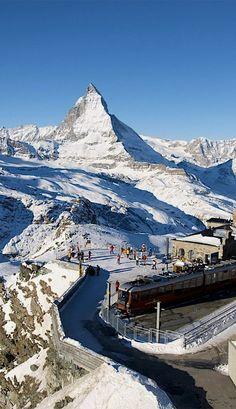Gornergrat station - Matterhorn, Switzerland | Flickr - Photo by Drumsara