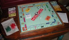 Monopoly Wood Game - Board Game - Wall Art - Upcycled-Home Wall Decor-Framed Monopoly Game-Monopoly Art-Wood Game-Gift Idea-Traditional Game