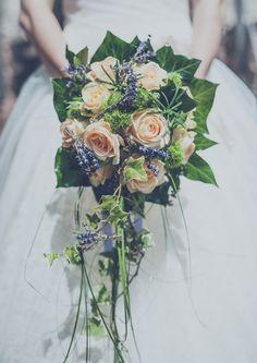 bouquet, sposa, wedding, roses, peach, rosmarino, lavender, rose, shabby chic, vintage, flowers