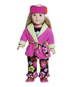 Look what I found on #zulily! Blonde Floral Pajama Doll #zulilyfinds