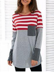 SHARE & Get it FREE | Spliced Asymmetric Striped T-ShirtFor Fashion Lovers only:80,000+ Items • New Arrivals Daily • Affordable Casual to Chic for Every Occasion Join Sammydress: Get YOUR $50 NOW!