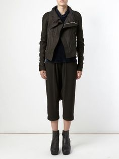 Rick Owen - fitted biker jacket - LOVE!