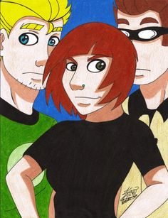 Wayne, Guy and Frank fanart from the comic twogag.