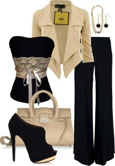 Fashion combinations for elegant evening look