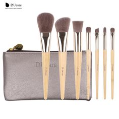 DUcare Make Up Pennelli Set 7 pz Bamboo Foundation Ombretto Concealer Pennelli Eyeliner Cosmetico kwasten make up