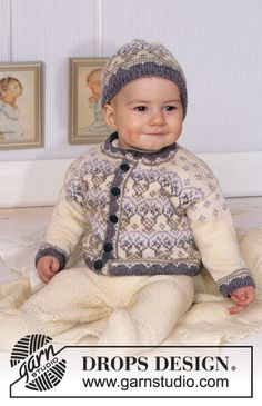 DROPS Baby 11-6 - Norwegian style jacket and hat in Baby Merino and blanket in Karisma Superwash. - Free pattern by DROPS Design