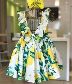 Dress up lemons! Last tam 4 years Drag to the side and see … - Moda Infantil African Dresses For Kids, Latest African Fashion Dresses, Toddler Girl Dresses, Little Girl Dresses, Girls Frock Design, Baby Dress Design, Baby Frocks Designs, Kids Frocks Design, Kids Dress Wear
