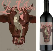 Lust Collides by Tomer Hanuka. Wine Packaging Illustration for Some Young Punks.