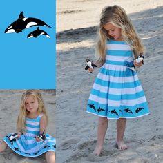 LoFff Clothing Aqua Orca Whale Dress Baby Nerd, Cute Kids Fashion, Orcas, Whales, My Children, Creative Ideas, Paisley, Baby Kids, Aqua