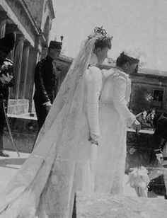 """teatimeatwinterpalace: """"""""Wedding of Princess Maria of Greece and Denmark with Grand Duke George Mikhailovich, on 30 April 1900.{x} """" """""""