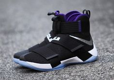 The Nike LeBron Zoom Soldier 10 in a space jam-inspired colorway is showcased. Stay tuned to KicksOnFire for a release date.