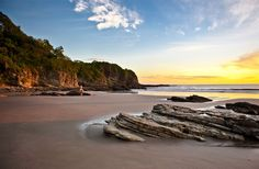 Nicaragua Beaches | sunset on the beach at Morgans Rock in Nicaragua
