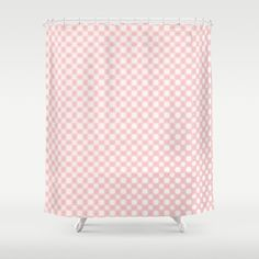 White polka dots glow pattern on rose quartz by Wendy Townrow, pink, white, rose quartz, rose, baby pink, spot, dot, polka dot, spots, pattern, glow, glowing, modern, unique, graphic design, art, digital, digital art, digital design,decor, home decor, bathroom decor, bathroom, shower curtain