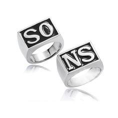 Anillo de plata de joyería de moda europea, anillos de motociclista de película Sons of Anarchy, conjunto de 2 unidades de anillos estlo punk para hombres y mujeres