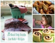 "25 Road Trip Snacks for Kids   Recipes (I pinned some specific ones on my ""fun food"" board, but there are others here)"