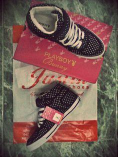Hi-Top Sneakers #Playboy #Bunny #PlayboyBunny #Shoes #Sneakers
