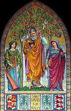 St. David of Wales, Feast Day and Welsh National Day, March 1