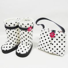 American Girl 18 Dolls Purse and Boots Set  White by MegOriGirls, $17.50