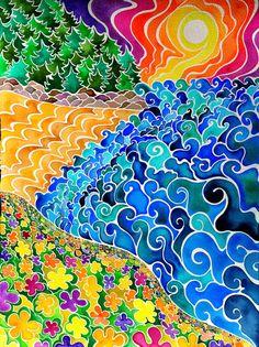 Este es un listado de edición limitada numerada firmada 11 por 14 pulgadas impresión de Big Sur, una acuarela pintada con acuarelas de grado profesional de alto pigmento en 100% algodón papel de acuarela Arches prensado en frío.  He creado esta pintura en respuesta a una reciente visita a California de Big Sur, una extensión de playas rocosas con espumoso de las olas del océano Pacífico rugir, arena oro y púrpura, antiguos bosques musgosos y delicadas flores respirar el aire salado.  En…
