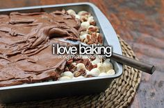 ...and that's who I am. baking