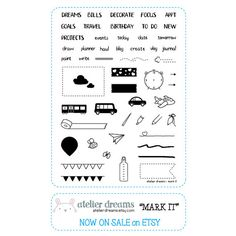 Mark It  Planner Stamps Photopolymer Clear Stamps by AtelierDreams