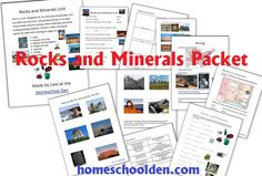 Are you studying Rocks and Minerals with your kids this year? Be sure to grab this free packet made by Liesl over athomeschoolden.com. This packet covers ho