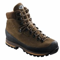 USES All-terrain trekking and hiking in all seasons. MATERIAL 2.6mm Nubuck leather, GORE-TEX® Skintec membrane - Vibram® Werewolf outsole DESCRIPTION Mid-cut leather upper with gum stoneguard and full rand / Bi-density microcellular midsole and - Vibram® outsole / Leather interior and GORE-TEX® Skintec ® lining for maximum lasting comfort - and consistently excellent breathability / Semi-rigid tread. SIZE 5 to 12+ AVERAGE WEIGHT (1/2 pair) 830 grs.