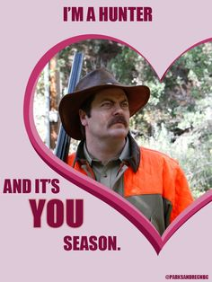 Parks and Rec Valentine's Day cards. Love.