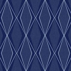 Facet Wallpaper in Midnight Blue design by Stacy Garcia for York Wallcoverings