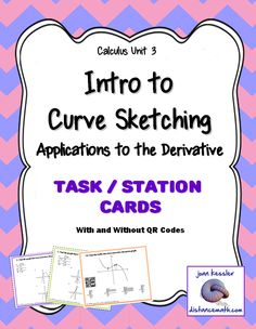 Introductory lesson to Unit 3, Calculus. This innovative activity is designed for Calculus 1, AP Calculus AB, and Calculus Honors. It is an introduction to Unit 3, Applications to the Derivative. In this activity, students use what they have learned about derivatives and slope to analyze and identify graphs based upon a table of values for f(x) and f ′(x).
