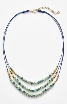 Panacea+Triple+Row+Beaded+Quartz+Necklace+available+at+#Nordstrom