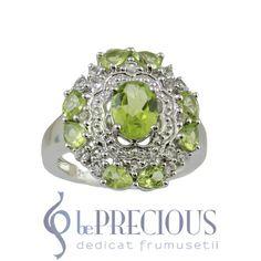Inel argint cu perdiote si topaze - www.beprecious.ro Topaz, Engagement Rings, Jewelry, Rings For Engagement, Jewellery Making, Wedding Rings, Jewels, Commitment Rings, Jewlery
